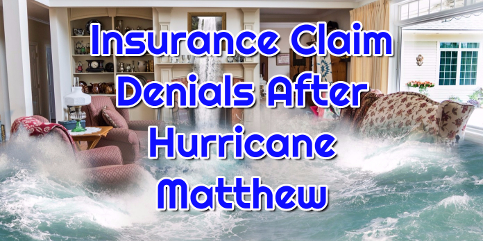 Insurance Claim Denials After Hurricane Matthew