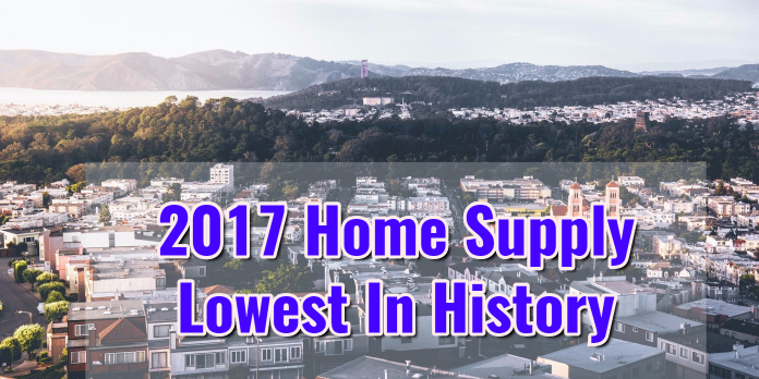 2017 Home Supply Lowest In History