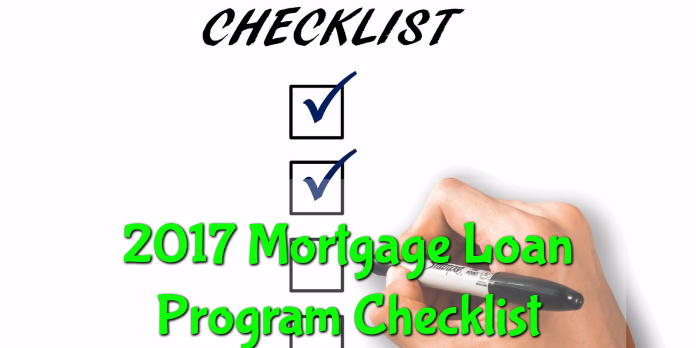 2017 Mortgage Loan Program Checklist